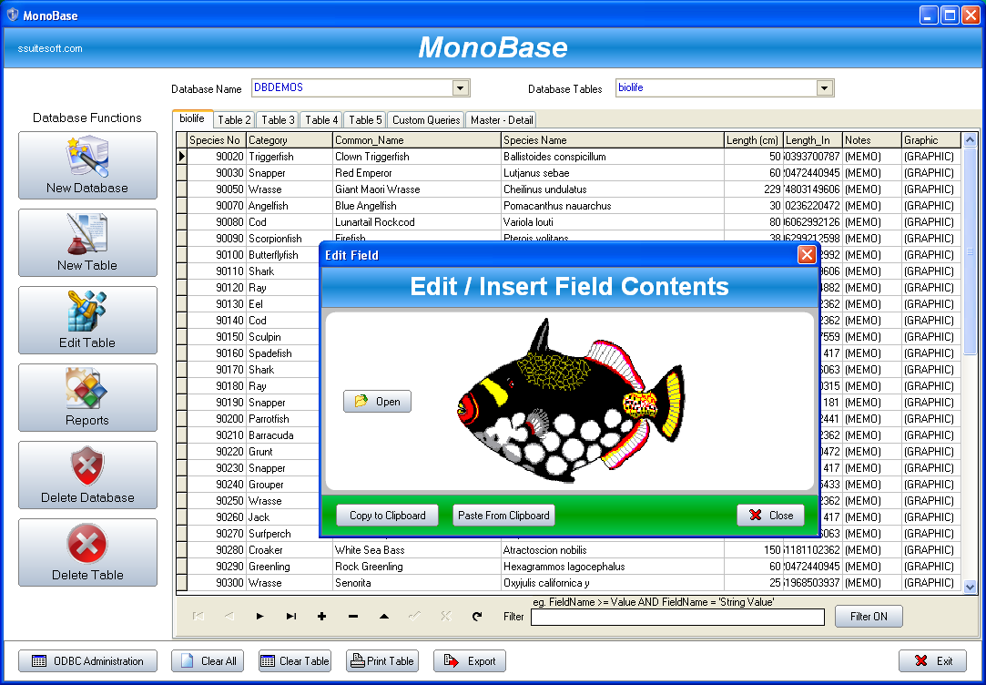 Database ssuite office software free database creator for Create software online