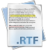 Only use RTF documents from SSuite Office!