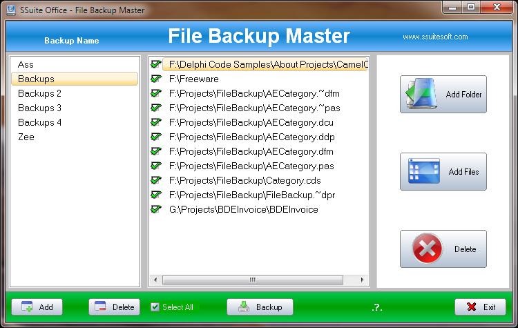SSuite Backup Master - SSuite Office Software | Simple