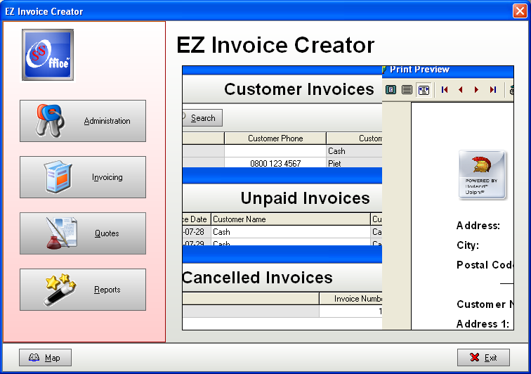 Invoice Master and Business Accounting - SSuite Free Office Software