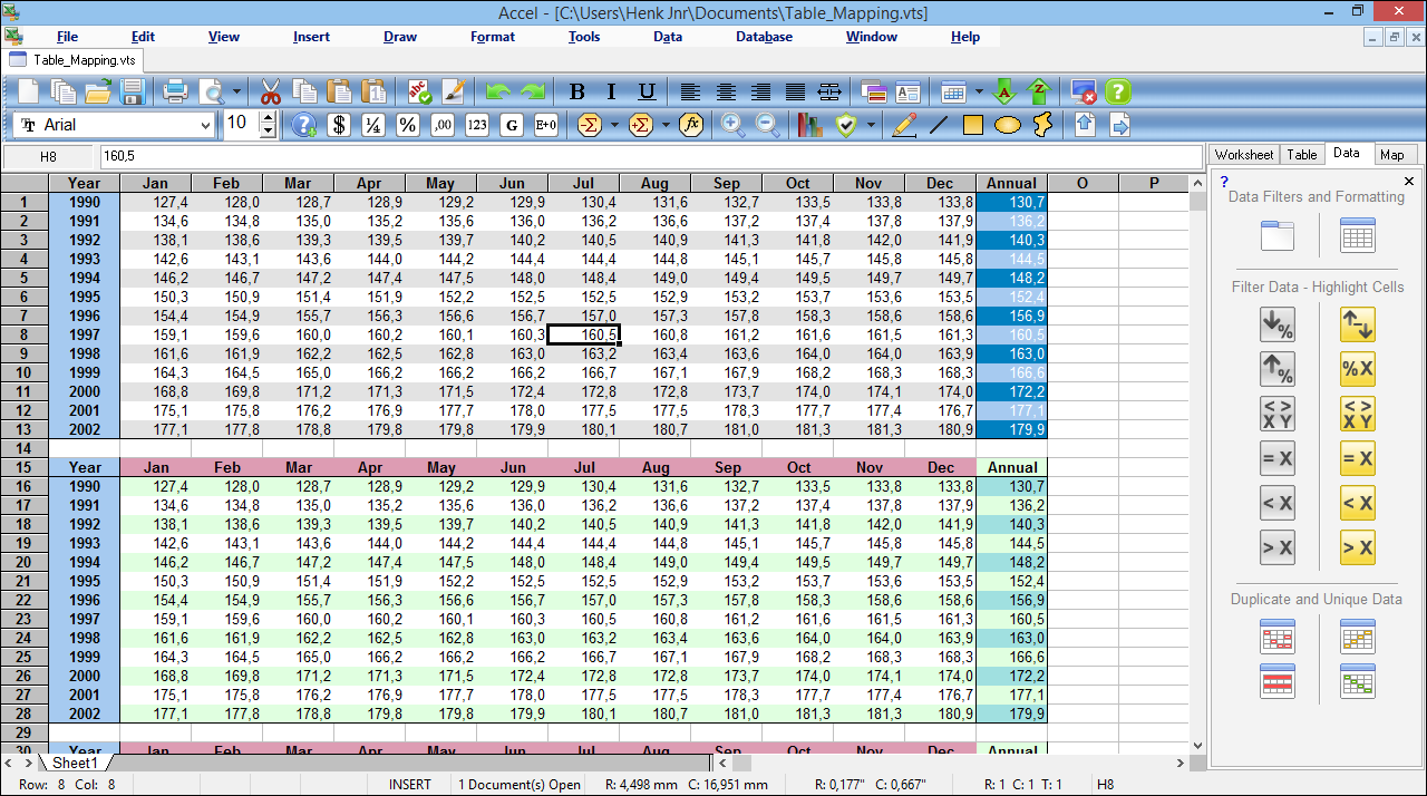SSuite Accel Spreadsheet Screen shot