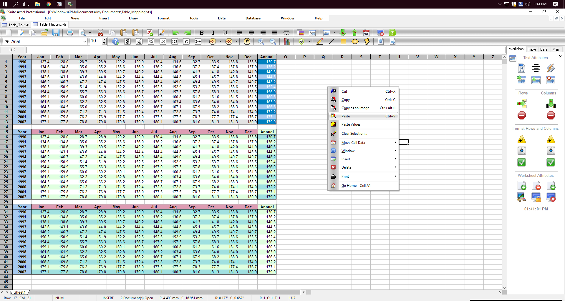 SSuite Axcel Professional Spreadsheet full screenshot