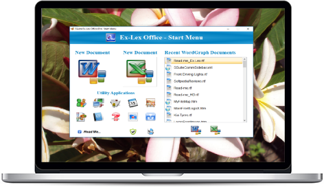 Screenshot of SSuite Ex-Lex Office Pro Start Menu. Updated for the latest Dekstop, Laptop, and Surface Pro tablets.Download the best free office suites from SSuite Office Software.