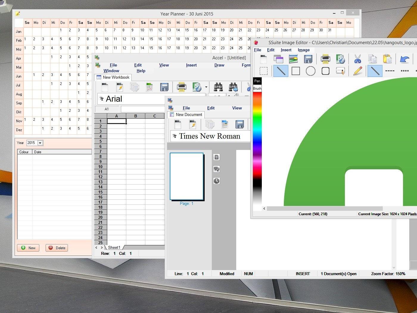 SSuite OmegaOffice HD+ full screenshot