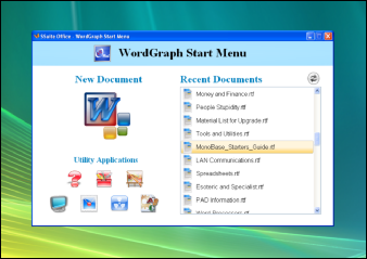 Screenshot of SSuite Office - WordGraph. Updated for the latest Dekstop, Laptop, and Surface Pro tablets. Get only the best free word processors and text editors from SSuite Office Software downloads.